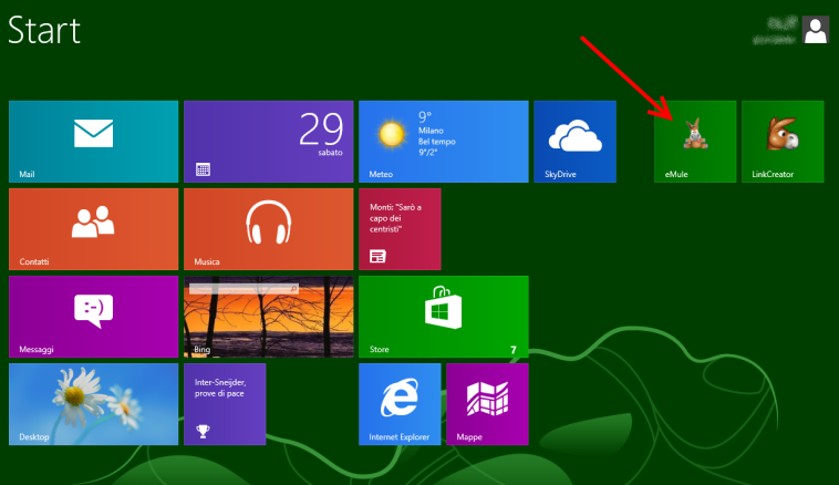 Windows 8 Start - eMule